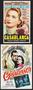 "Movie Posters:Academy Award Winners, Casablanca (Warner Brothers, 1946/CB Films, R-1967). Overall: Very Fine+. Spanish Heralds (2) (3.25"" X 5.25"" & 4"" X 5.5""). A..."