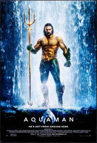 "Aquaman (Warner Brothers, 2018). Rolled, Very Fine+. One Sheet (27"" X 40"") DS, Advance. Action"