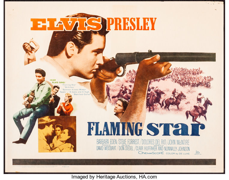 Flaming Star (20th Century Fox, 1960). Rolled, Fine/Very Fine ...