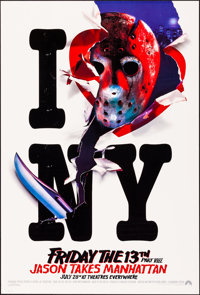 Friday the 13th Part VIII: Jason Takes Manhattan (Paramount, 1989). Rolled, Very Fine. Recalled One Sheet & One Shee...