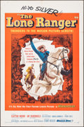 "Movie Posters:Western, The Lone Ranger (Warner Bros., 1956). Folded, Very Fine-. One Sheet (27"" X 41""). Western.. ..."