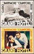 "Movie Posters:Academy Award Winners, Grand Hotel (MGM, 1932/R-1950s). Very Fine-. Lobby Cards (2) (11"" X 14""). Academy Award Winners.. ... (Total: 2 Items)"