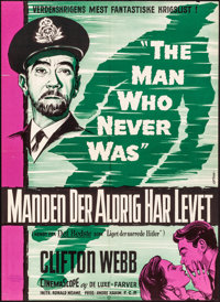 "The Man Who Never Was (20th Century Fox, 1958). Folded, Fine/Very Fine. Danish Poster (24.25"" X 33.5"") Gaston..."