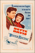 "Movie Posters:Drama, Winter Meeting (Warner Brothers, 1948). Folded, Very Fine-. One Sheet (27"" X 41""). Drama.. ..."
