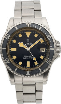 "Tudor, Submariner ""Snowflake"", Ref. 94110, 40mm Prince OysterDate, Blue Dial, Circa 1979"