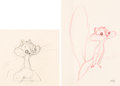 Animation Art:Concept Art, Much Ado About Nutting Sandra Squirrel Concept/Animation Drawings Group of 2 Art (Warner Brothers, 1953).... (Total: 2 Original Art)