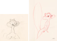 Much Ado About Nutting Sandra Squirrel Concept/Animation Drawings Group of 2 Art (Warner Brothers, 1953).... (Total: 2 O...