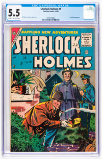 Sherlock Holmes #1 (Charlton, 1955) CGC FN- 5.5 Cream to off-white pages