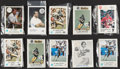 Football Cards:Sets, 1979-82 Football Police Complete/Near Set Collection (15)....