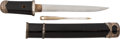 Edged Weapons:Swords, A Diminutive Shin Shinto Tanto Attributed to Seuyuki in El...