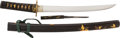 Edged Weapons:Swords, An attractively Mounted Shin Shinto Hira Sukuri Tanto in Soft Metal Mounts Signed Sadayoshi.. ...