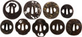 Edged Weapons:Other Edged Weapons, Collection of Nine Antique Japanese Iron Tsuba.. ... (Total: 9 Items)