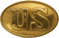 Militaria:Uniforms, Oval Puppy Paw Oval US Belt Plate. 88 mm x 55 ...
