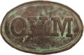 Militaria:Uniforms, Oval Ohio Volunteer Militia Belt Plate Dug at Corinth.. ...
