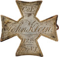 Militaria:Insignia, 12th Ohio Volunteer Infantry: John Klein Silver I.D. Badge.. ...