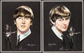"""Movie Posters:Rock and Roll, The Beatles (Selteab, 1964). Rolled, Very Fine+. Promotional Portrait Set of 4 (12"""" X 16"""") Nicholas Volpe Artwork. Rock and ... (Total: 4 Items)"""