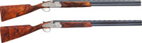 Cased & Highly Engraved Matched Pair of Beretta S06 EELL Over & Under Shotguns, Engraving by Giancarlo Pedretti...