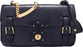 "Luxury Accessories:Bags, Ralph Lauren Navy Blue Python Ricky Chain Bag. Condition: 1. 10.5"" Width x 6"" Height x 3"" Depth. ..."