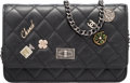 "Luxury Accessories:Bags, Chanel Limited Edition Black Lucky Charms Wallet on Chain with Ruthenium Hardware. Condition: 2. 7.5"" Width x 5"" Heigh..."
