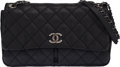 """Luxury Accessories:Bags, Chanel Black Quilted Aged Calfskin Leather Medium Flap Bag. Condition: 3 . 12"""" Width x 8"""" Height x 3"""" Depth. ..."""