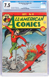 All-American Comics #18 (DC, 1940) CGC VF- 7.5 Off-white to white pages