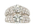 Estate Jewelry:Rings, Diamond, White Gold Ring, Somenzi. ...