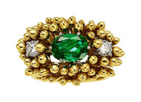 Emerald, Diamond, Gold Ring, Schlumberger for Tiffany & Co