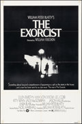 "Movie Posters:Horror, The Exorcist (Warner Bros., 1974). Folded, Fine/Very Fine. One Sheet (27"" X 41"") Black & White Style. Horror.. ..."