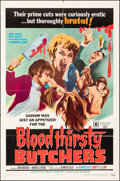 """Movie Posters:Horror, Bloodthirsty Butchers & Other Lot (William Mishkin Motion Pictures Inc., 1969). Folded, Fine+. One Sheets (3) (27"""" X 41,"""" 27... (Total: 3 Items)"""