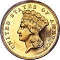 Proof Three Dollar Gold Pieces, 1862 $3 PR64 Deep Cameo PCGS. CAC. JD-1, High R.6....
