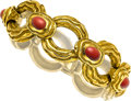 Estate Jewelry:Bracelets, Coral, Gold Bracelet, Tiffany & Co., Italy. ...