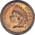 Indian Cents, 1859 1C MS66+ PCGS. CAC....