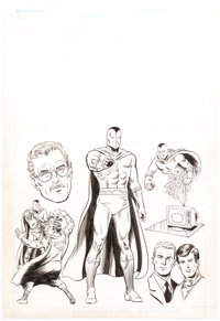 Curt Swan and Murphy Anderson Who's Who: The Definitive Directory of the DC Universe #3 Blackrock Illustration Ori