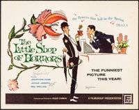 "The Little Shop of Horrors (Filmgroup, 1960). Rolled, Fine/Very Fine. Autographed Half Sheet (22"" X 28""). Come..."