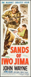 "Movie Posters:War, Sands of Iwo Jima (Republic, 1950). Very Good/Fine on Linen. Insert (14"" X 36""). War.. ..."