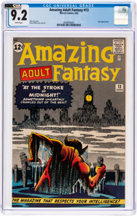 Amazing Adult Fantasy #13 (Marvel, 1962) CGC NM- 9.2 White pages