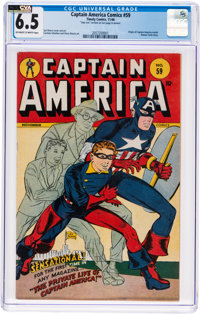 Captain America Comics #59 (Timely, 1946) CGC FN+ 6.5 Off-white to white pages