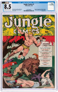 Golden Age (1938-1955):Adventure, Jungle Comics #1 (Fiction House, 1940) CGC VF+ 8.5 Cream to off-white pages....