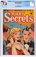 Golden Age (1938-1955):Romance, Diary Secrets #28 (St. John, 1955) CGC FN/VF 7.0 Off-white to white pages....