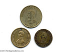 Political:Tokens & Medals, Group Of Three 1840 WH Harrison Campaign Medals...