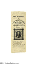 Political:Ribbons & Badges, Unusual Variety Of 1844 Henry Clay Silk Campaign Ribbon...