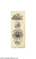 Political:Ribbons & Badges, Graphic 1868 Grant Campaign Ribbon...