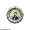 Political:Ferrotypes / Photo Badges (pre-1896), Stunning Large 1860 Lincoln/Hamlin Ferrotype Rarity...