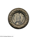 "Political:Ferrotypes / Photo Badges (pre-1896), Overwhelming, Huge 1860 Bell/Everett ""Doughnut"" Ferrotype..."