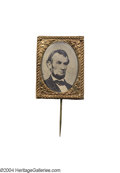 Political:Ferrotypes / Photo Badges (pre-1896), Fine 1864 Lincoln Campaign Ferrotype...