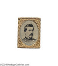 Political:Ferrotypes / Photo Badges (pre-1896), 1864 McClellan Campaign Ferrotype...