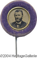 Political:Ferrotypes / Photo Badges (pre-1896), 1868 U.S. Grant Ferro...
