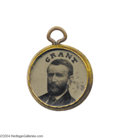 Political:Ferrotypes / Photo Badges (pre-1896), Grant & Colfax 1868 Charm...