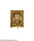 Political:Ferrotypes / Photo Badges (pre-1896), Large 1872 Gem Cardboard...
