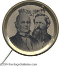 Political:Ferrotypes / Photo Badges (pre-1896), Superb And Rare 1872 Greeley-Brown Ferrotype Jugate...